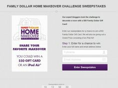 Family Dollar Makeover Challenge Sweepstakes