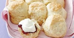 This easy lemonade scones recipe requires no mixing - all you need is cream, lemonade, flour and sugar. Serve with jam and cream for afternoon tea.