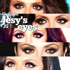 Jesy Nelson's eye makeup (from the band Little Mix)