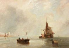Off North Shields - John William Carmichael  {Laing Art Gallery, Newcastle-upon-Tyne}