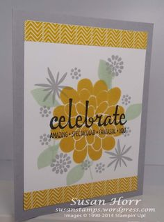 Stampin' Up! Flower Patch, Flower Fair framelits, photopolymer, Fabulous Four