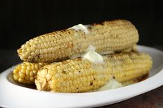 Try this next #BBQ ~ Grilled Corn, Brushed with Soy Mirin Glaze, Wasabi Butter Melting on Top