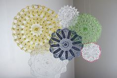 Swoon!: A festive doily garland.