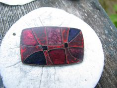 Richly Colored Abstract Vintage Enamel Brooch, made in Germany, 1950s. $42.00, via Etsy.