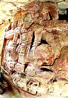 1400 year old, 26 foot long (8 meter) 6.5 foot high ( 2 m) find in a tunnel left open by looters, last month at site of Holmul- an ancient Maya city in the peten region of Guatemala. In a huge mysterious multi roomed building which is still buried under 65 foot structure.