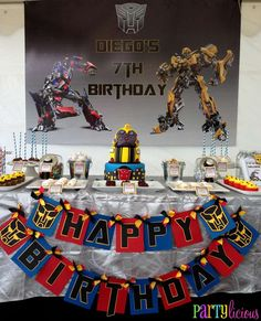 Transformers Birthday Party Ideas | Photo 5 of 19 | Catch My Party