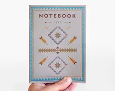 TEXT Notebook in grey, tribal edition by ARMINHO