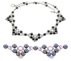 Free Pattern - Pearl Princess Necklace Weave from INMCrystal.com featured in Bead-Patterns.com recent Newsletter!