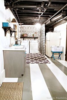 mostly for the painted ceiling. this would be a great alternative to a drop ceiling.