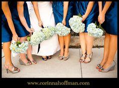 © Corinna Hoffman Photography - www.corinnahoffman.com - Wedding Dress and Blue Wedding Shoes - Jacksonville and St. Augustine Florida Wedding Photographer - Bridesmaids - Bouquets