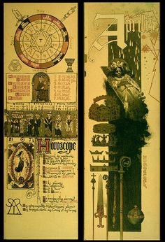An Occult Calendar Of 1896 illustrated by Manuel Orazi