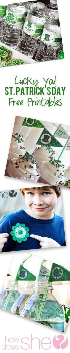 HAPPY ST PATRICKS DAY!! Free St Patricks Day Printables