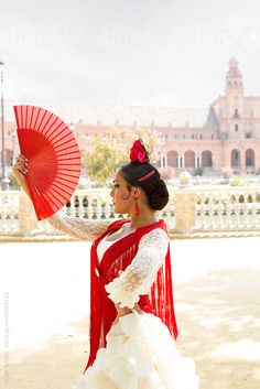 Professional Flamenco Dancer. Sevilla Spain. by Hugh Sitton