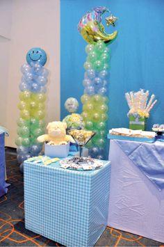 Balloon Decoration for baby Shower #sempertex