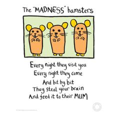 Edward Monkton Fine Art Print - Madness Hamsters (395 RUB) ❤ liked on Polyvore featuring home, home decor, wall art and photo wall art