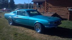 1968 Mustang Fastback Tahoe Turquoise.