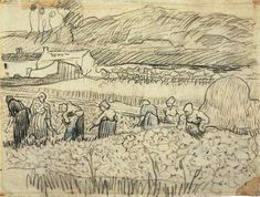 "Van Gogh, ""Women working in a Wheat Field"""