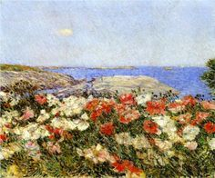 Poppies on the Isles of Shoals - Childe Hassam