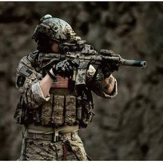 Airsoft is a shooting sport that involves military tactics in order to achieve certain objectives set by the rules. Military Tactics, Military Gear, Military Weapons, Airsoft Sniper, Airsoft Helmet, Navy Seal Symbol, Military Pictures, Army Pics, Military Special Forces