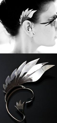 Gorgeous winged ear cuff
