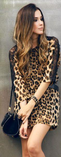 leopard print dress....