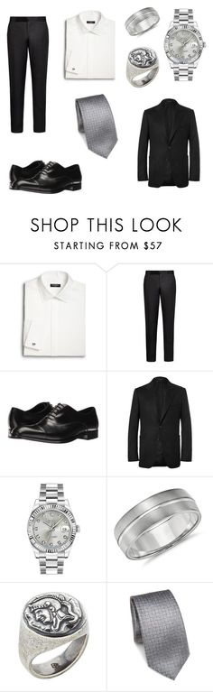 """Hadrianus Valerius"" by jade-rose-872 ❤ liked on Polyvore featuring Saks Fifth Avenue, Giorgio Armani, Emporio Armani, Tom Ford, Rolex, Blue Nile, Degs & Sal, Saks Fifth Avenue Collection, men's fashion and menswear"