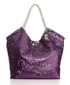 purple glittery purse