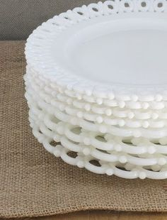 milk glass plates like this
