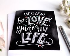 •The Listing• ~This card features part of the Bible verse Colossians 3:14. And over all these virtues, put on love.... It features various