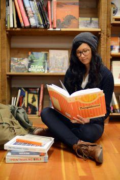 Sanctuary between the bookshelves