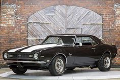 We proudly offer this Well Built 1968 Chevrolet Camaro SS 396 Tribute with TK0600 5-Speed in Black with White Stripes over a Black bucket-seat interior. This '68 Camaro SS features a no-expense ...