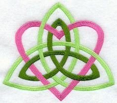 I would love this as a tattoo, but black with only one trinity symbol.