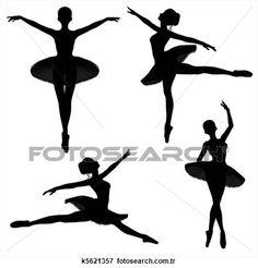 balerin, siluetler, -, 1 Büyük İlüstrasyona Bak