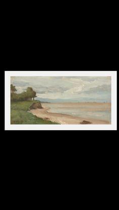 Jean-Baptiste Camille Corot - Beach near Étretat, c. 1872 - Oil on canvas - 12,3 x 25,5 cm  - Washington, NGA