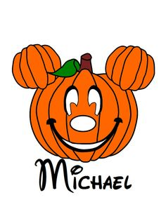 Halloween Pumpkin w/ Name/Date Mickey Mouse Head Disney Vacation Birthday Printable Iron On Transfer DIY Clipart Disney Crafts, Disney Fun, Disney Cruise, Disney Stuff, Disney Magic, Halloween Prints, Halloween Pumpkins, Fall Halloween, Mickey Birthday