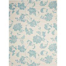 Home & Garden Ivory/Blue Indoor/Outdoor Area Rug