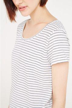 Ichi X Lubra Striped Tee - Tops - Clothing - Womenswear