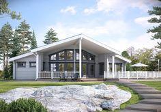 Hirsitalo Nuuna 122T - Kuusamo Hirsitalot Home Fashion, House Plans, Cottage, Exterior, House Design, Cabin, Mansions, House Styles, Outdoor Decor