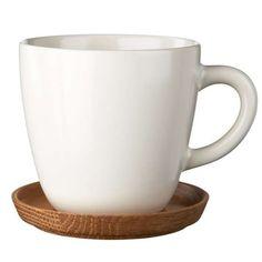 Höganäs, Kaffemugg/Träfat 30 cl, Vit matt