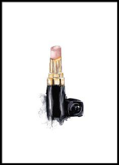 Poster mit Chanel-Lippenstift.