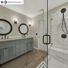 """HomeAdvisor on Instagram: """"Absolutely beautiful work on a master bathroom remodel from HomeAdvisor pro @f2construction! • • Repost from @f2construction • Finally…"""""""