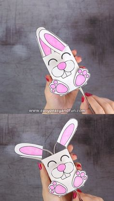 We've got another amazing Easter project ready for you – let's make a movable bunny paper toy. activities Movable Bunny Paper Toy - Easy Peasy and Fun Easy Easter Crafts, Easter Projects, Bunny Crafts, Paper Crafts For Kids, Preschool Crafts, Diy For Kids, Craft Projects, Craft Ideas, Paper Cup Crafts