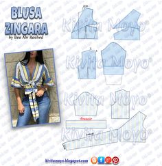 Wonderful Photo of Crop Top Sewing Pattern Nightgown Pattern, Bodice Pattern, Top Pattern, Dress Sewing Patterns, Blouse Patterns, Clothing Patterns, Fashion Sewing, Diy Fashion, Sewing Clothes