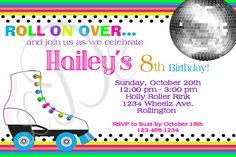Roller skating Birthday Party Invitation by LittleDarlingExp, $8.00