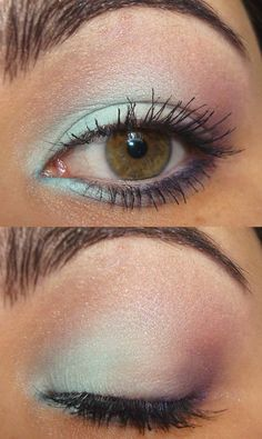 So I'm kind of scared of blue eye shadow, but maaybe for a very special event :D