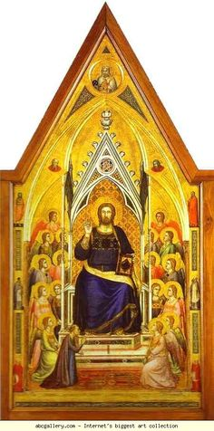 Giotto di Bondone. Stefaneschi Polyptych. c.1330. Side showing Christ, middle panel. Tempera on panel. Vatican Gallery