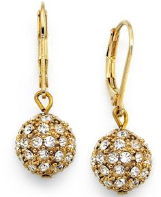 5b2f50be1 Lauren Ralph Lauren Gold-Tone Crystal Accent Ball Drop Earrings from Macy's  on shop.CatalogSpree.com, your personal digital mall.