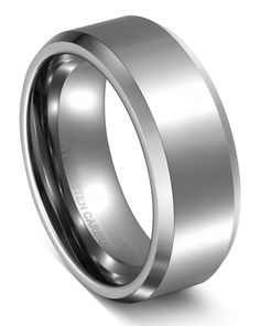 King Will 8mm White Comfort Fit Tungsten Ring High Polished Mens Classic Wedding Engagement Band|Amazon.com  http://www.amazon.com/King-Will-Tungsten-Polished-Engagement/dp/B00LFH25PA/ref=sr_1_49?s=apparel&ie=UTF8&qid=1438322108&sr=1-49&refinements=p_4%3AKing+Will