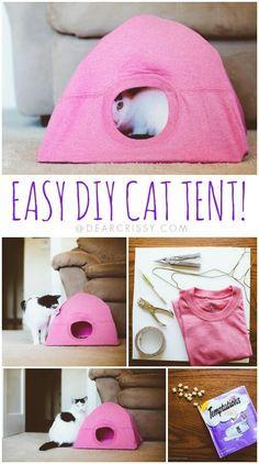 Una linda casita para tu gatitoo!! #diy #decoraciones #hazlotumisma