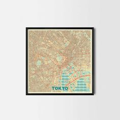 Tokyo City Prints - Art posters and map prints of your favorite city. Unique design of a map. Perfect for your house and office or as a gift.